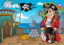 Pirate ship deck topic 5. Eps10 vector illustration royalty free illustration