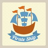 Pirate ship design Royalty Free Stock Photo