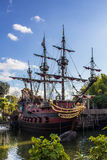 Pirate ship in Disneyland stock image