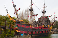 Pirate ship. In Disneyland, Paris Stock Photo