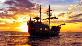 Pirate Ship. In the Dominican Republic Royalty Free Stock Photo