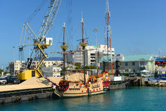 Pirate ship in Cayman Islands. Pirate ship in downtown George Town, Grand Cayman, Cayman Islands Stock Image