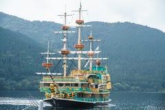 Pirate ship. Pirate fancy ship, lake Ashi, Tokyo, Japan Stock Photo