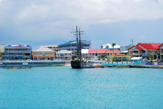 Pirate ship George Town. Pirate ship in harbor at George Town Grand Cayman stock photos