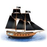 Pirate Ship Illustration Royalty Free Stock Photos