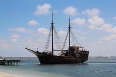 Pirate ship on the island of Djerba, Tunisia royalty free stock photo