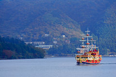 Pirate Ship. This is a Pirate Ship in the lake Royalty Free Stock Photography