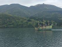 Pirate ship. In the lake at japan Stock Photos