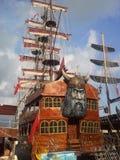 Pirate ship. A pirate ship of the Mediterranean Sea in türkye stock photos