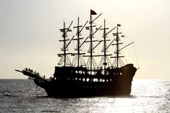 Pirate ship. Pirate ship, close up image Royalty Free Stock Photo