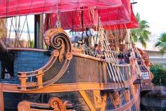Pirate ship at pond near Treasure Island hotel  in Las Vegas. Stock Photography