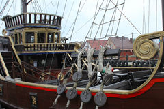 Pirate ship in the port. Stock Photography
