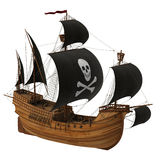 Pirate Ship. Realistic 3D Model Royalty Free Stock Photography