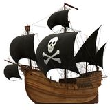 Pirate Ship. Realistic 3D Scene Stock Photography