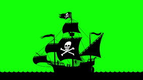 Pirate Ship Sailing 3 Royalty Free Stock Image