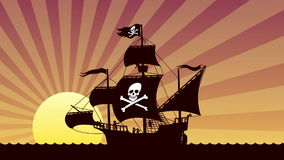 Pirate Ship Sailing Royalty Free Stock Photo