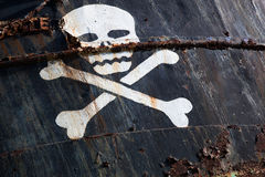Pirate ship with skull 1 Stock Photos