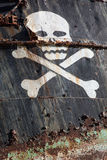 Pirate ship with skull 4 Stock Image