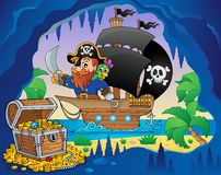 Pirate ship theme image 3 Royalty Free Stock Photo