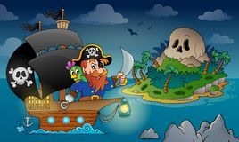 Pirate ship theme image 4 Royalty Free Stock Photo