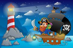 Pirate ship theme image 5 Royalty Free Stock Photo