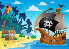 Pirate ship topic image 5 Royalty Free Stock Photos
