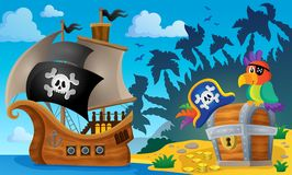 Pirate ship topic image 6 Royalty Free Stock Photography