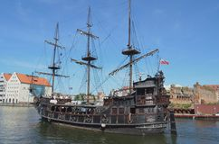 Pirate Ship For Tourists, Gdansk, Poland  Tom Wurl Royalty Free Stock Images