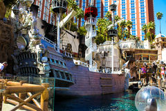 Pirate Ship from Treasure Island, Las Vegas, NV. Royalty Free Stock Photography