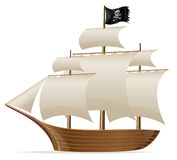 Pirate ship vector illustration Stock Image