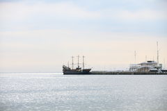 Pirate ship on the water of Baltic Sea Royalty Free Stock Photos