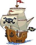 Pirate ship. On white background illustration stock illustration