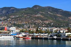 Pirate ships in Alanya stock image