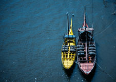 The pirate ships!. Boats on the Río Douro in Porto, Portugal Stock Photography