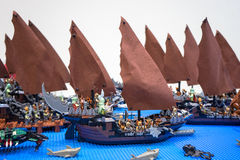 Pirate ships lego Royalty Free Stock Photo