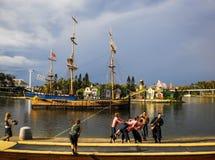Pirate show at Sea world of Gold coast. Stock Photos