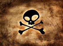 Pirate sign on vintage paper Stock Photos