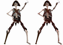 Pirate Skeleton Stock Images