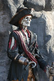 Pirate Skeleton. Skeleton in pirate suit Royalty Free Stock Photo