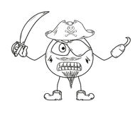Pirate sketch Stock Photography