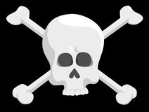 Pirate skull stock photo