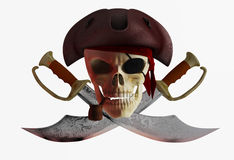 Pirate skull 2 Stock Photography