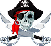 Pirate Skull. And crossed sables Stock Image