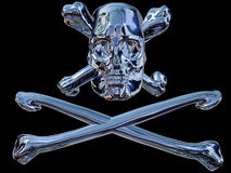 Pirate Skull. A pirate skull and bones made in metal Royalty Free Stock Images