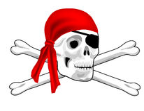 Pirate Skull and Bones Stock Image