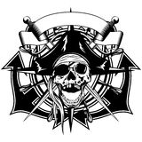 Pirate skull cocked hat Stock Images