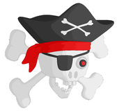 Pirate Skull and Crossbones Royalty Free Stock Images