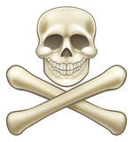 Pirate Skull and Crossbones Halloween Cartoon Stock Photos