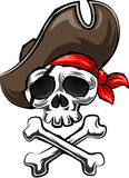 Pirate Skull and Crossbones Royalty Free Stock Photos