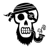 Pirate Skull and Crossbones Royalty Free Stock Photo